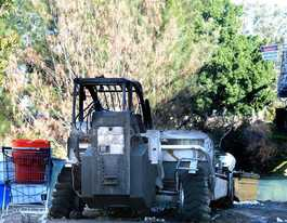 Explosions ring out over Lismore as $100,000 forklift burns