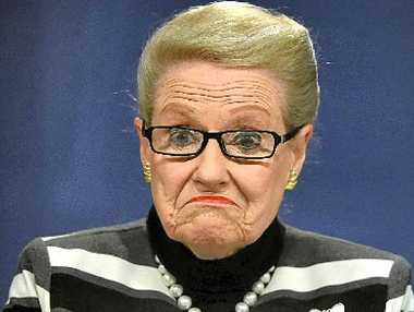 RESISTING EVICTION: Bronwyn Bishop speaks to the media in Sydney last weekend.