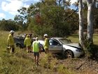 Man in stable condition after ute smashes into gum tree