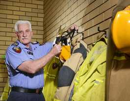 Firies farewell an old hand after 30 years