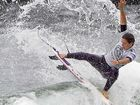 Tyler Wright stumbles in march to surfing world championship