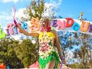 Customised gumboots were the must-have accessory at Splendour in the Grass, surpassing the felt hat.