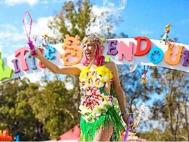 A performer at Little Splendour, the festival's space for children.