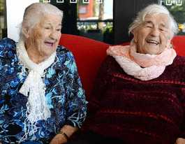 Mischievious Mackay twins celebrate 92nd birthday