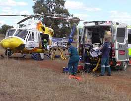Dululu woman airlifted to hospital