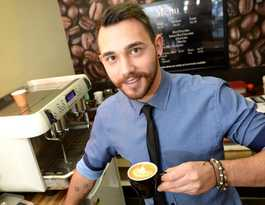 Giacomo moves for the love of coffee