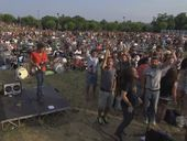 1000 musicians from all over Italy have gathered in Cesena to play just one song together in an attempt to get Dave Grohl's band to have a concert there.