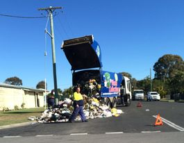 Council garbage truck drops its load in Urangan