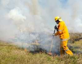 Hazard reduction burn ahead of fire season