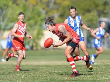 Action from the Yeppoon Swans v Brothers game at Kele Park on Saturday.   Photos CHRIS ISON