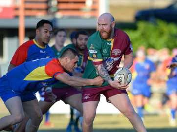 Action from the rugby union game between Gladstone and Frenchville at Rugby Park on Saturday.   Photos CHRIS ISON