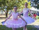 Piper Hadfield and Tata Heinig from Melarina Ballet Academy. Photo: Liana Turner / Tweed Daily News