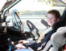 William is young, fast and furious on dirt track