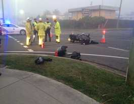 Rider walks away after colliding with a car in Maryborough