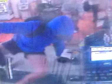 CCTV footage from an armed robbery of the store in Gowrie Junction.