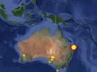 QUEENSLAND has experienced eight earthquakes in the past week with Saturday's 5.7 magnitude event alone packing as much force as 15 atomic bombs.