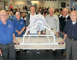 Woodcrafters restore surf reel for lifesaving club