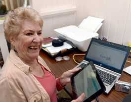Tech-savvy granny urges other seniors to get into cyberspace
