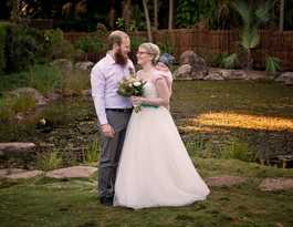 Couple delights friends with surprise garden wedding