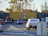 THE death of a woman on the train tracks at Blain Dr has brought a cargo train to a halt and closed roads.
