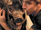 A MENACING eight foot, two-tonne wild boar with a taste for blood has been unleashed in the Mary Valley.