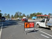 HERE AT LAST: Improvements to the Bruce Hwy near the Gold Nugget service station will save lives, Gympie chief ambulance officer Wayne Sachs believes.