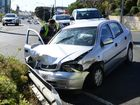 A TWO-VEHICLE crash has taken place in the Ipswich CBD.