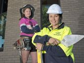 CARPENTRY apprentice Lauren Cockburn is thriving in a male-dominated industry.