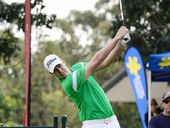 ROOKIE pro Rory Bourke stormed home with an eagle-birdie finish to share the first round lead of the Isuzu Queensland Open.