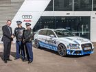A 331kW V8 Audi RS 4 Avant police car is not what you want to see in your mirrors. Pull over? Yes, officer.