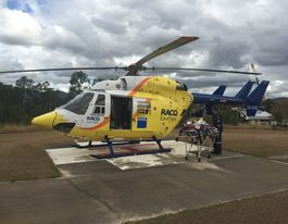 Injured motocross riders flown to Toowoomba Hospital