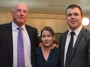 Grower of the year consultant award winners John and Kylie Fuelling with ANZ's Nathan McNamara.