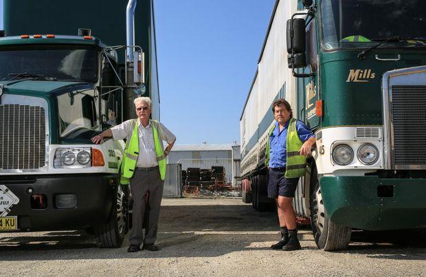 Kelvin Mills and Nick Ciani, at the Murwillumbah depot today.