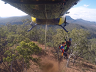 Thirsty, hungry and tired, two lost bush walkers were rescued by the RACQ Capricorn Helicopter Rescue after they lost their track in Carnarvon Gorge yesterday.