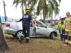 Driver suffers minor injuries after collision with tree
