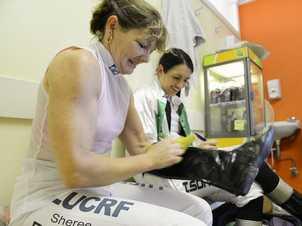 Ipswich Turf Club jockeys room photo essay. Sheree Drake and Tegan Harrison. Photo: David Nielsen / The Queensland Times