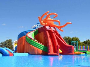 EXCITING: Mackay showgrounds secretary-manager Steve Gavioli is excited to announce that Australia's largest inflatable water park will be at the showgrounds for the September school holidays.