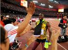 JUSTIN Galtin couldn't topple Usain Bolt at the World Athletics Championships, but a clumsy photographer on a Segway has (watch video below).