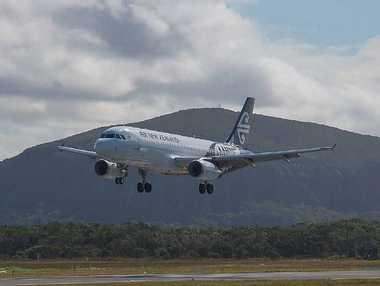 KIWIS ARRIVE: An Air New Zealand flight lands at Sunshine Coast Airport