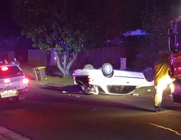 Police catch one man involved in Mooloolaba rollover