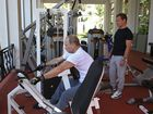 THE Kremlin has released pictures of Vladimir Putin and his PM Dmitry Medvedev pumping iron together, in a bizarre attempt at bulking up their popularity.