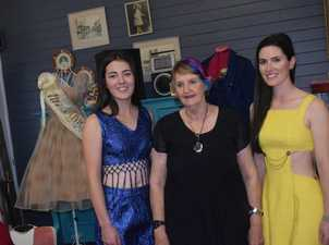 HISTORY REVEALED: An extensive collection of Jan Mullins (centre) outfits from decades ago were modelled at Pips 'n' Cherries on Saturday.