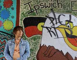 Vile graffiti vandals tag over Ipswich students' mural
