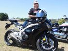 Riding and spreading the word about suicide in honour of son