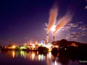 Broadwater Sugar Mill on a super moon ev