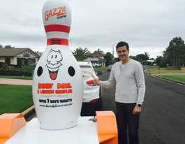 Stolen mascot tenpin located safe and well