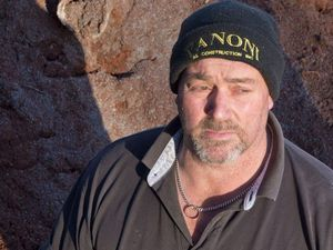 HEALTH RISK: Rangeville resident Geoff Castle is concerned over asbestos pipes being dumped in parkland across from Heller St Park. Thursday, Sep 03, 2015 . Photo Nev Madsen / The Chronicle