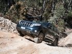 New Toyota Prado off-roading