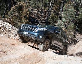 New Toyota Prado off-roading