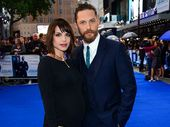 TOM Hardy's wife Charlotte Riley is pregnant and showed off her growing baby bump at the 'Legend' premiere.